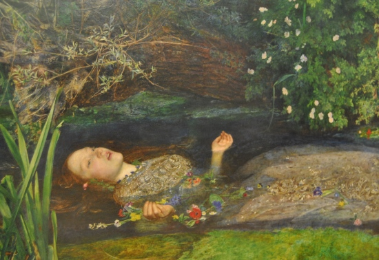 London.  Ophelia. Tate Gallery.