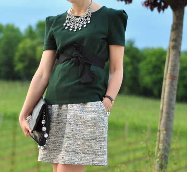 spring outfit green